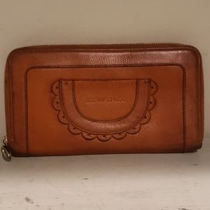 See by Chloe brown leather zip wallet